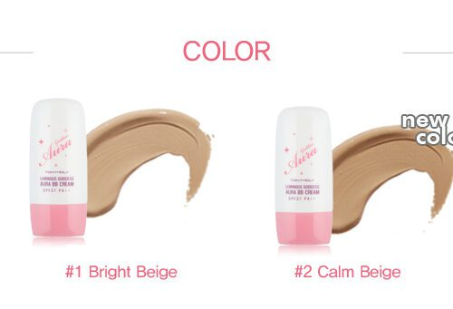 TONYMOLY Luminous Goddess Aura BB cream Colors