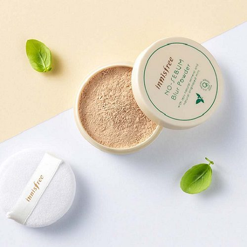 dolly skin Innisfree NO-SEBUM Blur Powder 2
