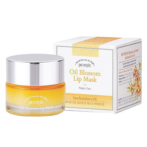dolly skin Petitfee Oil Blossom Lip Mask Sea Buckthorn Oil 1