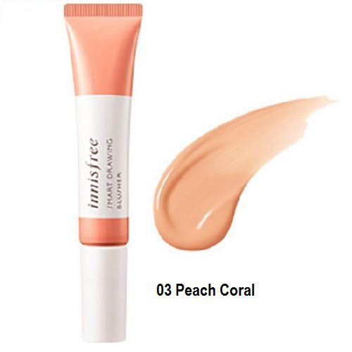 dolly skin Innisfree Smart Drawing blusher peach coral