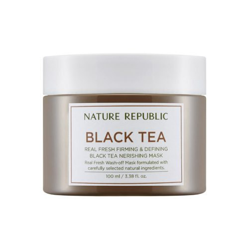 Dolly Skin Nature Republic Real Fresh Black Tea Nourishing Mask