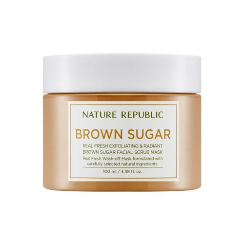 Dolly Skin Nature Republic Real Fresh Brown Sugar Facial Scrub Mask
