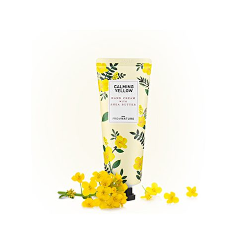 FROM NATURE Hand Cream With Shea Butter Calming Yellow